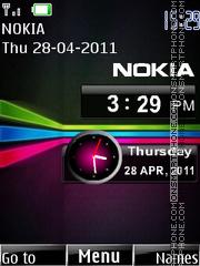 Nokia Clock 06 theme screenshot