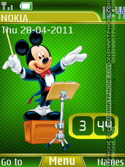 Mickey Mouse Clock 02 theme screenshot