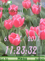 Pink tulips theme screenshot