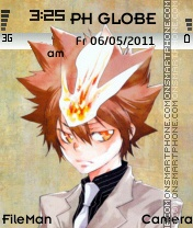 Tsunayoshi sawada theme es el tema de pantalla