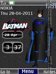 Batman Clock 01 theme screenshot