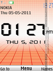 Big Digital Clock theme screenshot