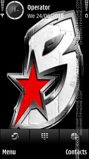 Black wallstreet logo tema screenshot