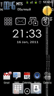 Android Clock 01 theme screenshot