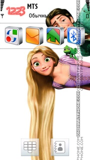 Tangled theme screenshot