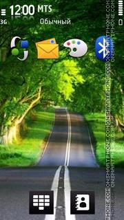 Nice Road View es el tema de pantalla