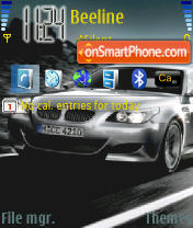 BMW M5 01 es el tema de pantalla
