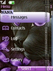 Cat w Flower CLK theme screenshot