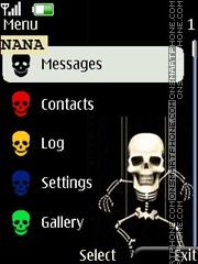 Funny Skeleton CLK es el tema de pantalla