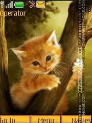 Red kitten anim theme screenshot