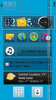 Nokia C7 Default theme screenshot