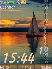 Sails at sunset_swf theme screenshot