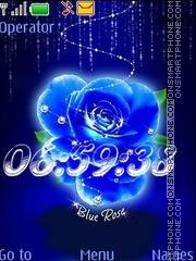 Blue rose swf es el tema de pantalla