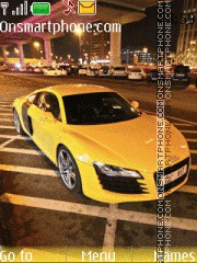 Yellow Audi R8 tema screenshot
