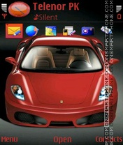 Red Ferrari Enzo theme screenshot