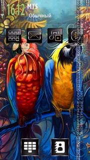 Parrot Macaw theme screenshot