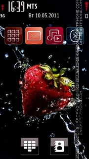 Strawberry Blast theme screenshot