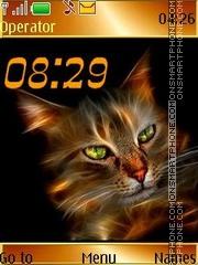 Скриншот темы Cat swf