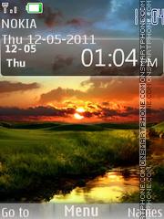 Скриншот темы Beautiful Sunset 01