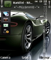 Green Car 03 theme screenshot