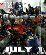 Transformers 3: Dark of the Moon es el tema de pantalla