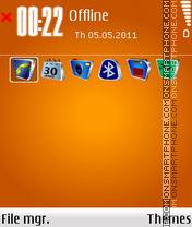 Orange At Best theme screenshot