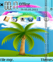 Rainbows 01 theme screenshot