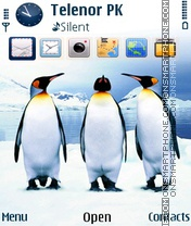Ice Birds theme screenshot