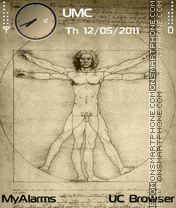 Vitruvian Man (fp1) theme screenshot
