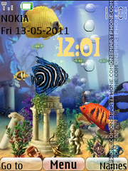 Animated Fish Tank 01 theme screenshot
