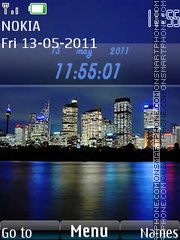 N97 City Style Menu theme screenshot