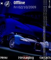 Bugatti In Dark 3rd theme screenshot