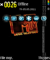 Music Mtv Edition theme screenshot