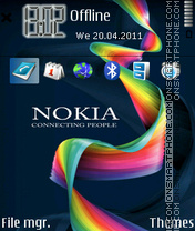 Nokia 7243 theme screenshot