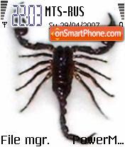 H Scorpion es el tema de pantalla