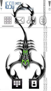 Tribal Scorpion 01 theme screenshot