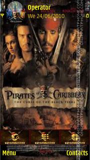Скриншот темы Pirates of the caribbean