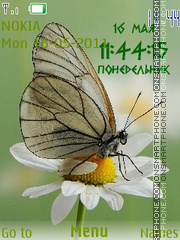 Butterfly Clock theme screenshot