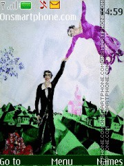 Marc Chagall theme screenshot