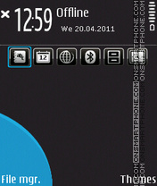N97 Black and Blue theme screenshot