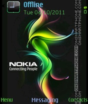 Nokia Flames theme screenshot