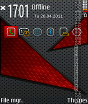 Red Abstract 04 theme screenshot