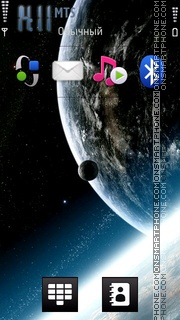 Airtel 3G Space theme screenshot