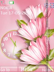 Pink Flowers theme screenshot