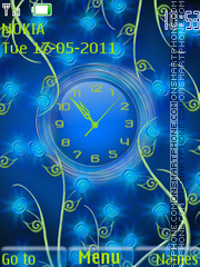 The blue theme screenshot