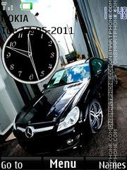 Скриншот темы Black Mercedes 02