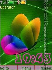 Iridescent butterflies anim swf theme screenshot