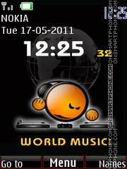 World Music Clock theme screenshot