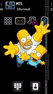 Simpsons Family 01 theme screenshot