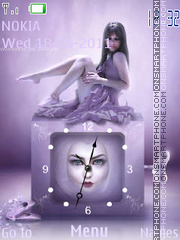 Girl Clock theme screenshot